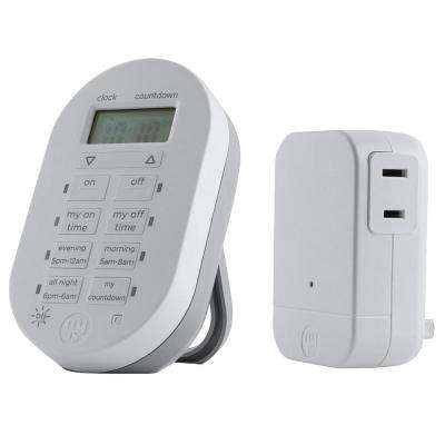 24-Hour Simple Set 2-On/Off Indoor Wireless Timer System