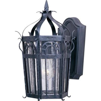 Maxim Lighting Cathedral 1-Light Country Forge Outdoor Wall Mount Sconce