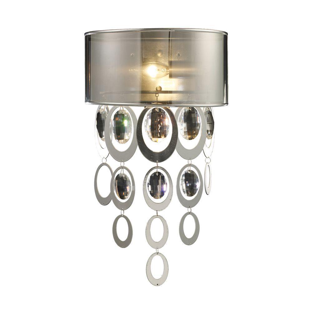 Titan Lighting Parisienne 1-Light Silver Leaf Sconce