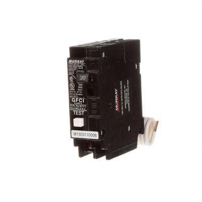 20 Amp Single Pole Type MP-GT2 GFCI Circuit Breaker