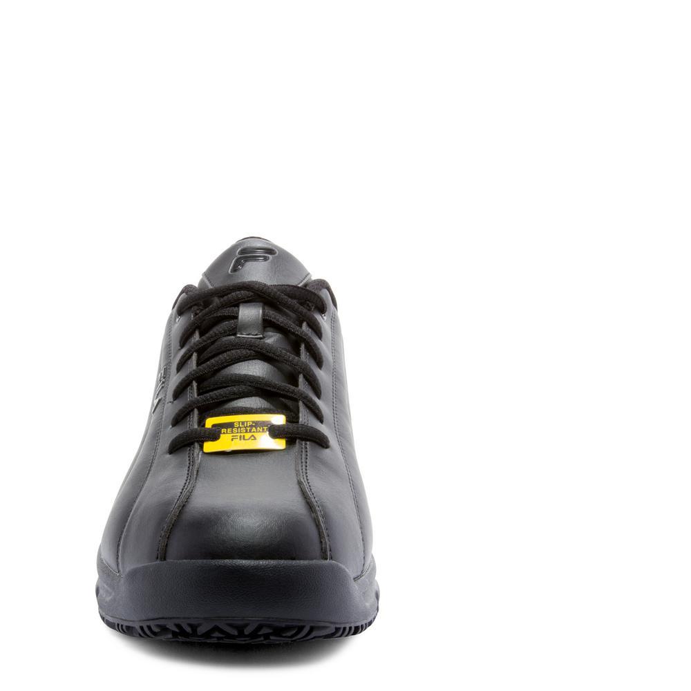 Fila Men's Memory Niteshift Slip Resistant Athletic Shoes Soft Toe BLACK Size 7.5(M)