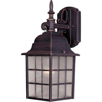 North Church 1-Light Rust Patina Outdoor Wall Mount