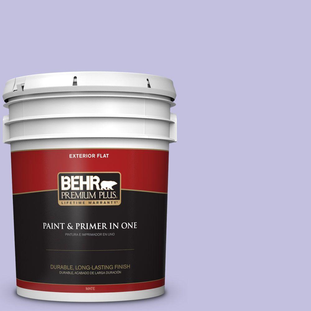 BEHR Premium Plus 5-gal. #630A-3 Weeping Wisteria Flat Exterior Paint
