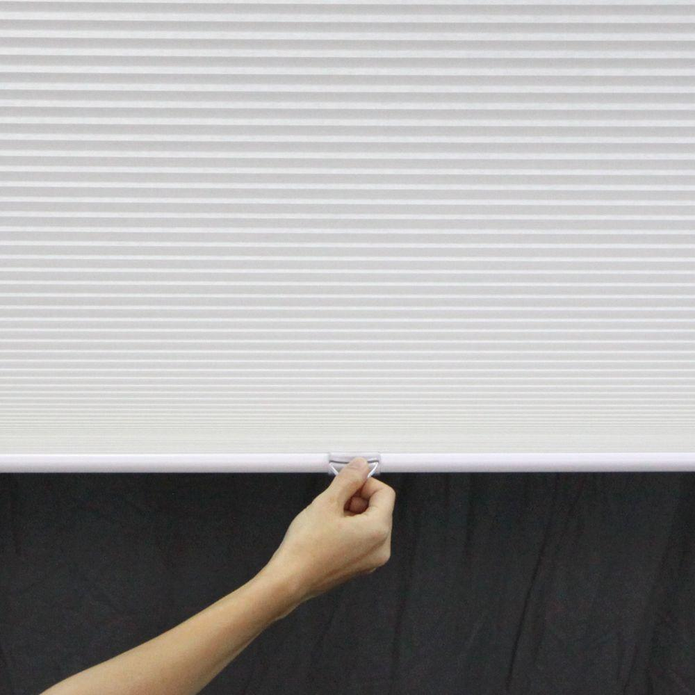Perfect Lift Window Treatment White 1 in. Cordless Light Filtering Cellular Shade - 57.5 in. W x 64 in. L (Actual Size: 57.5 in. W x 64 in. L )
