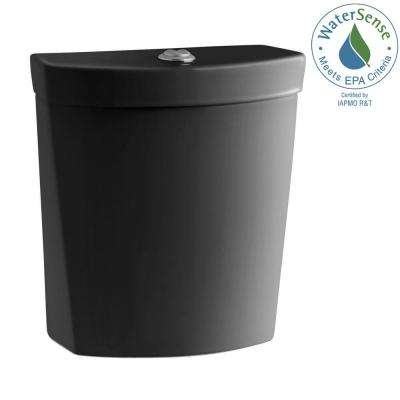 Persuade 0.8 or 1.6 GPF Dual Flush Toilet Tank Only in Black Black