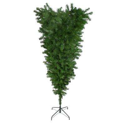 5.5 ft. x 38 in. Upside Down Spruce Medium Artificial Christmas Tree Unlit