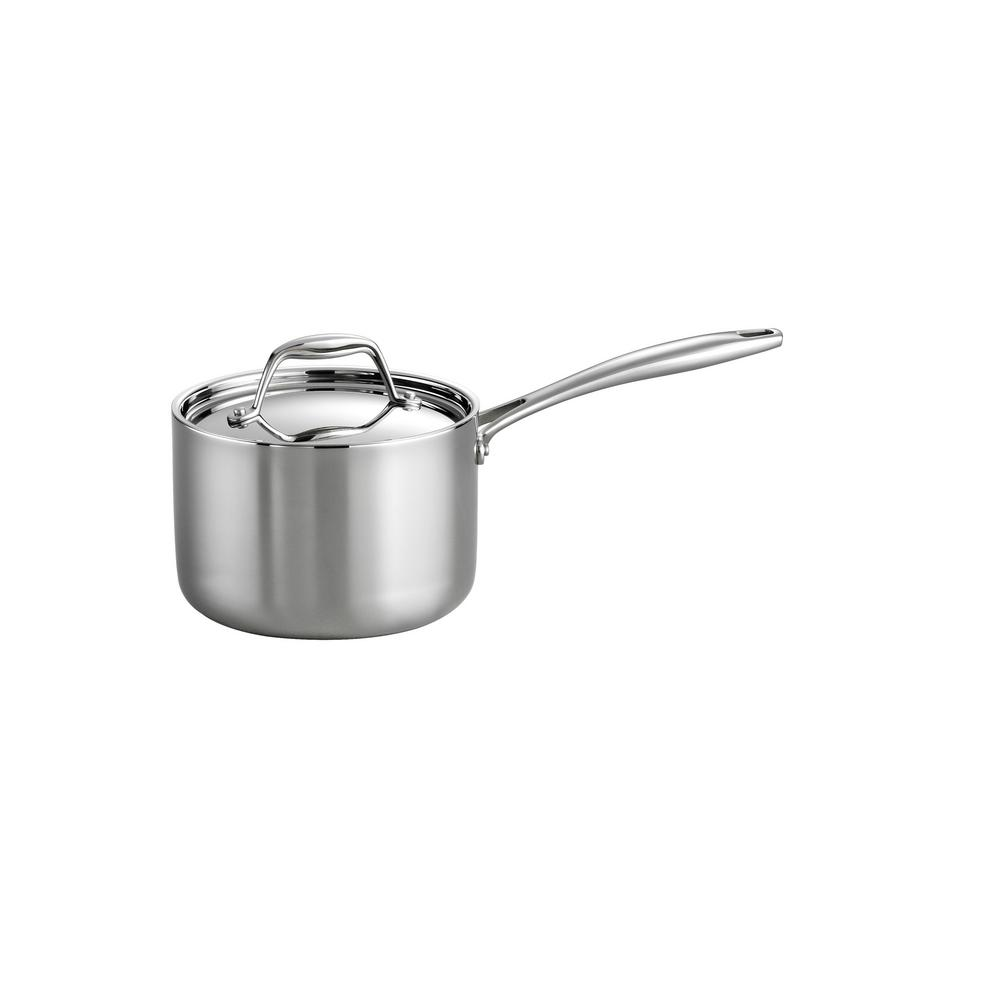 Gourmet 2 Qt. Tri-Ply Clad Saucepan with Lid