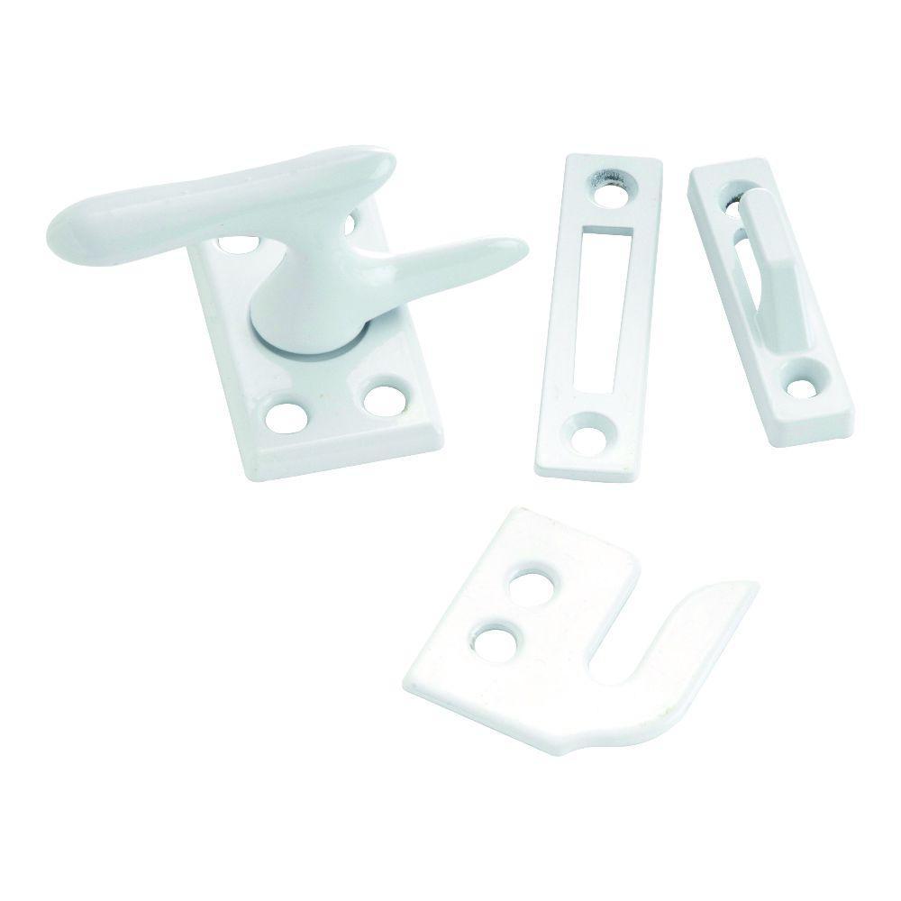 White Window Sash Lock with Casement Fastener