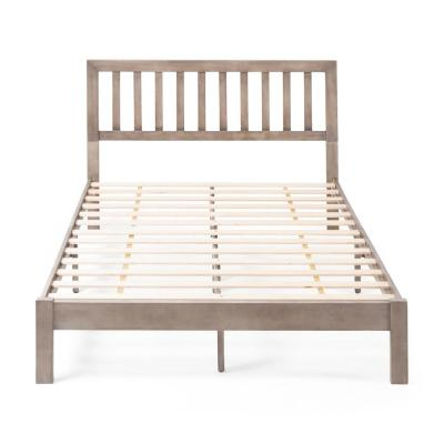Norgate  Grey Wood Queen Bed Frame