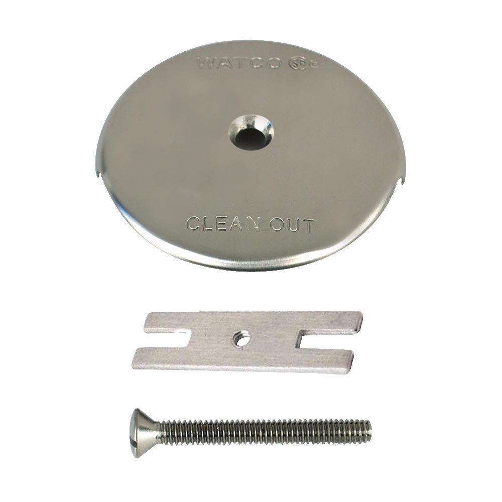 1-Hole Bathtub Overflow Plate Kit, Brushed Nickel