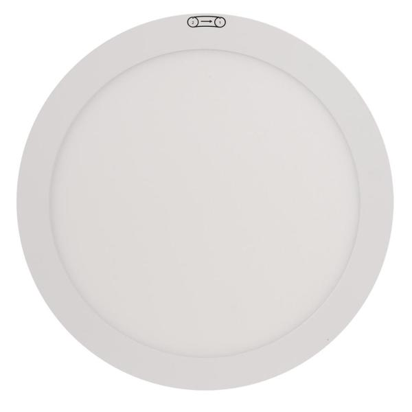 11 in. 12.5W Dimmable White Integrated LED Edge-Lit Round Flat Panel Flush Mount Ceiling Light w/Color Changing (3-Pack)