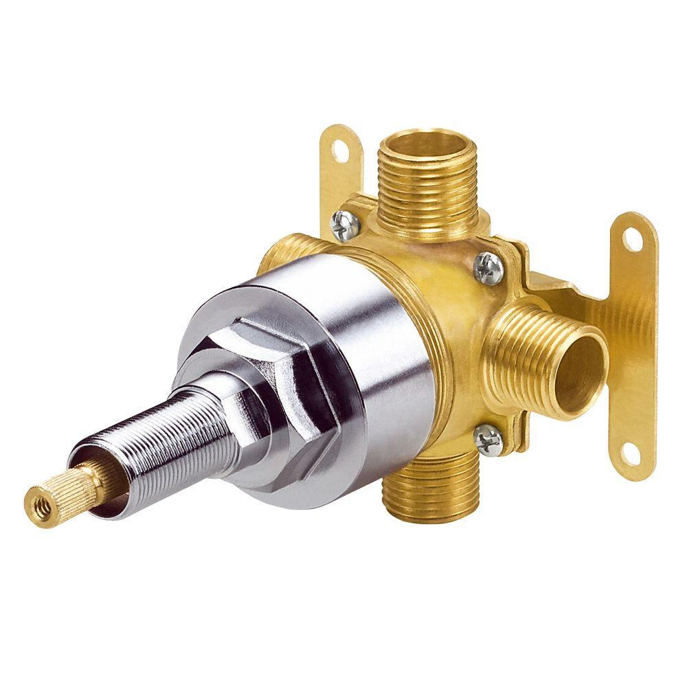 single handle shower faucet with diverter. Danze Single Handle 4 Port Shower Diverter Valve with Stops in Rough  Brass D130000BT The Home Depot