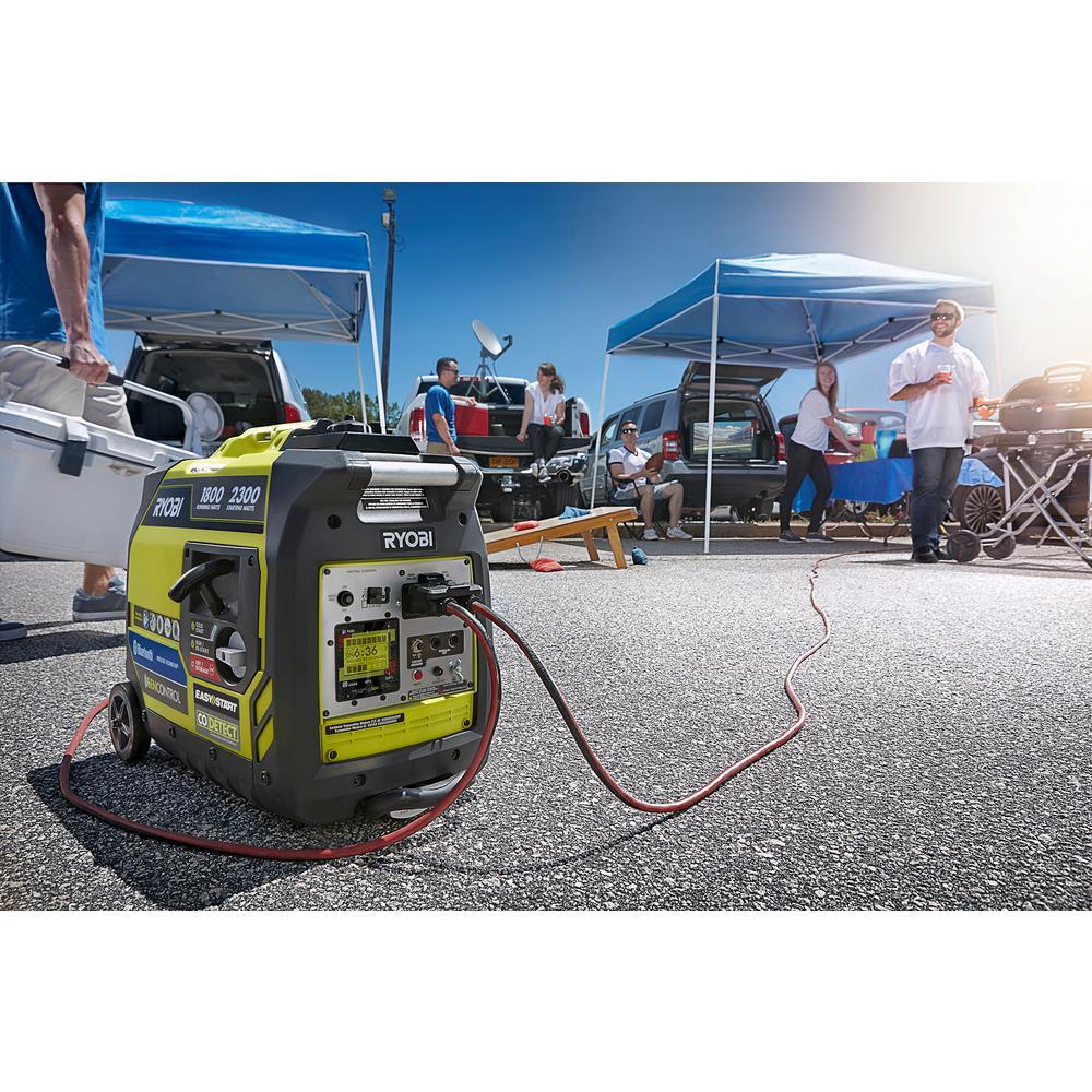 2,300-Watt Recoil Start Bluetooth Super Quiet Gasoline Powered Digital Inverter Generator with CO Shutdown Sensor