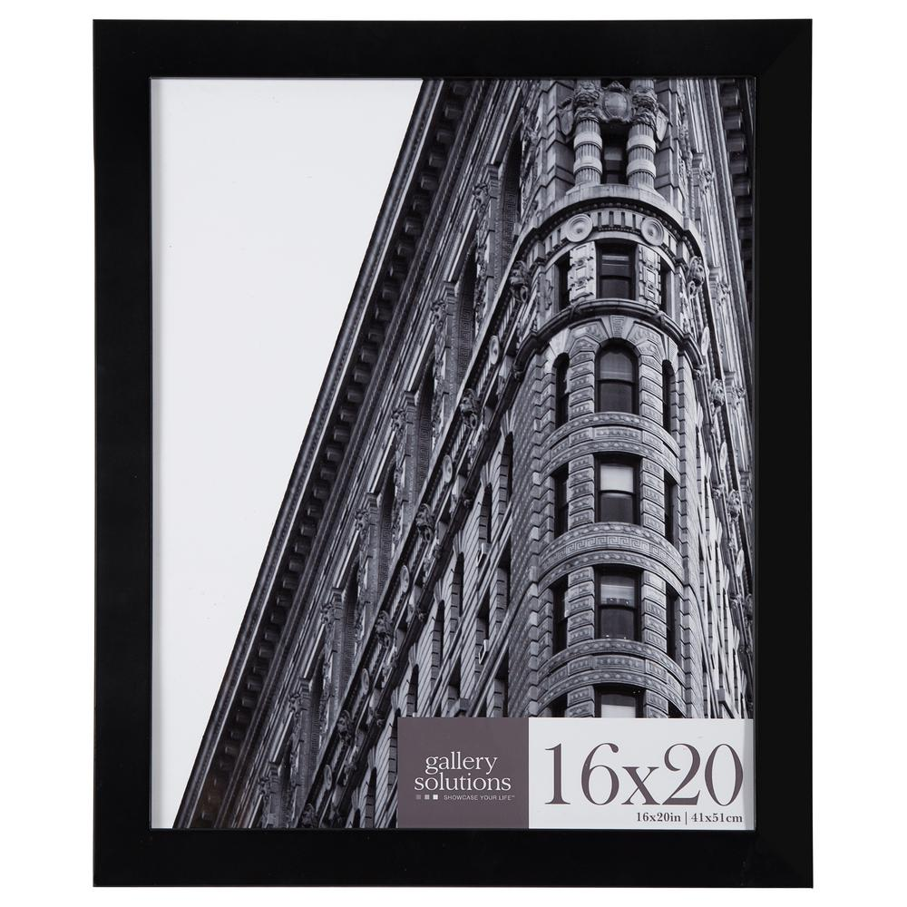 16 in. x 20 in. Black Flat Picture Frame