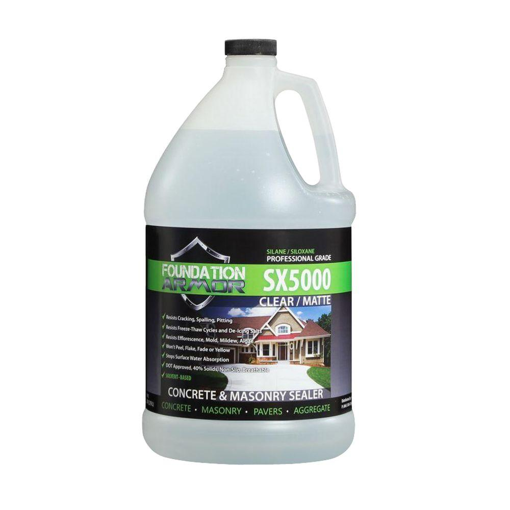 Foundation Armor 1 gal. Penetrating Solvent Based Silane Siloxane Concrete Sealer and Masonry Water Repellent