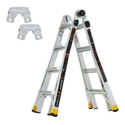 18 ft. Reach MPX Multi-Position Ladder/Gorilla Ladders Rail Bracket Kit (Combo Pack)
