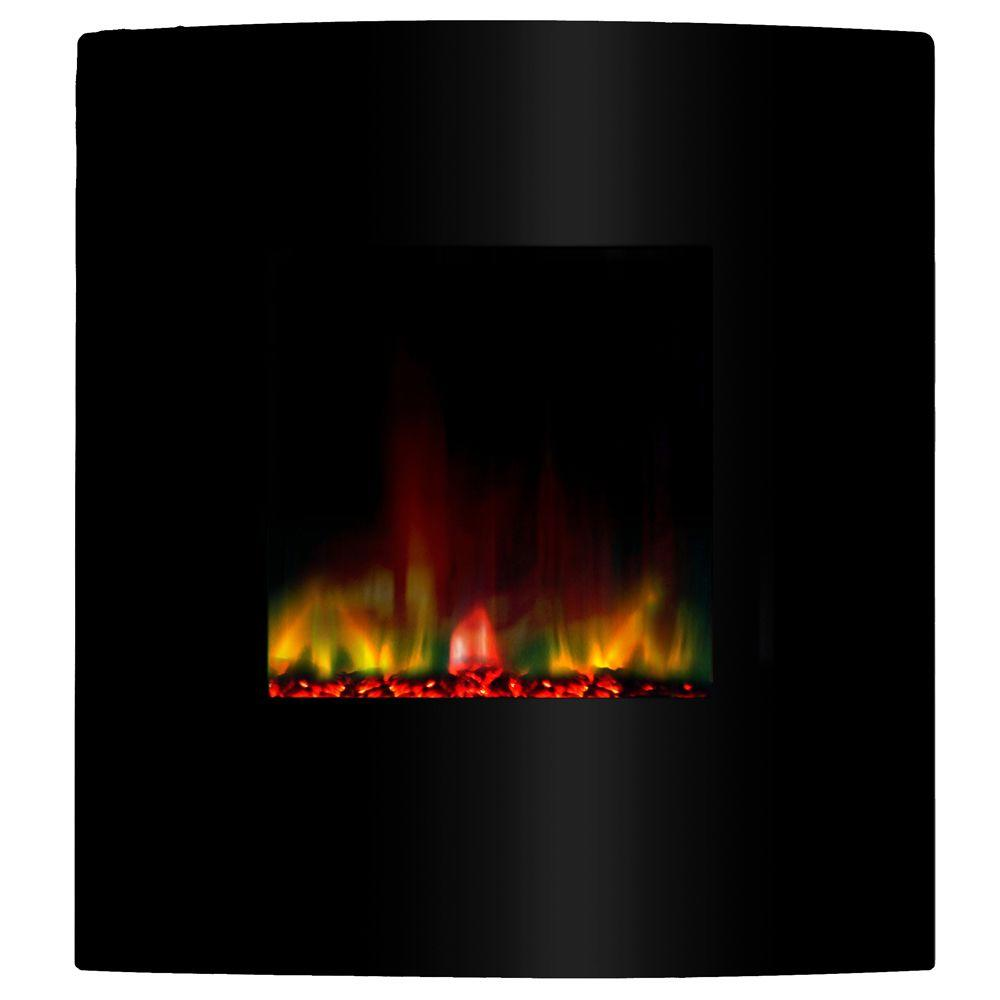 Yosemite Home Decor Vision 29 in. Wall-Mount Electric Fireplace in Black