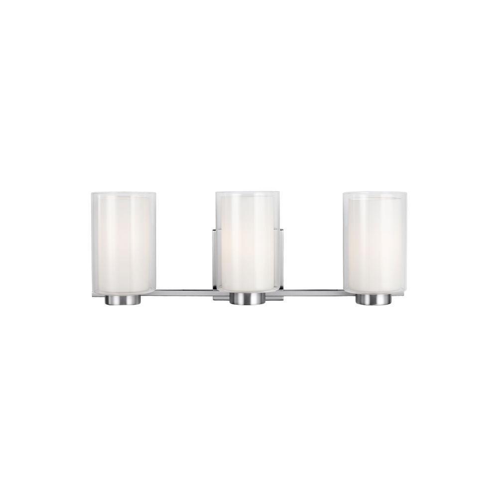Murray Feiss Bergin 3-Light Satin Nickel Wall Bath Light