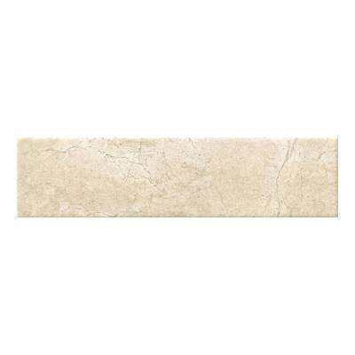 Marmi Crema Beige 4 in. x 16 in. Glazed Ceramic Wall Tile (11 sq. ft. / case)