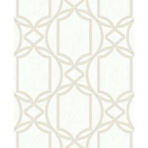 Tranquility Deco Geo Ivory Vinyl Strippable Roll (Covers 56 sq. ft.)