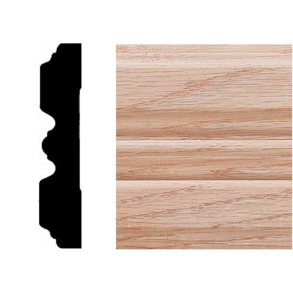 null 3/4 in. x 3-1/4 in. x 7 ft. Oak Fluted Casing
