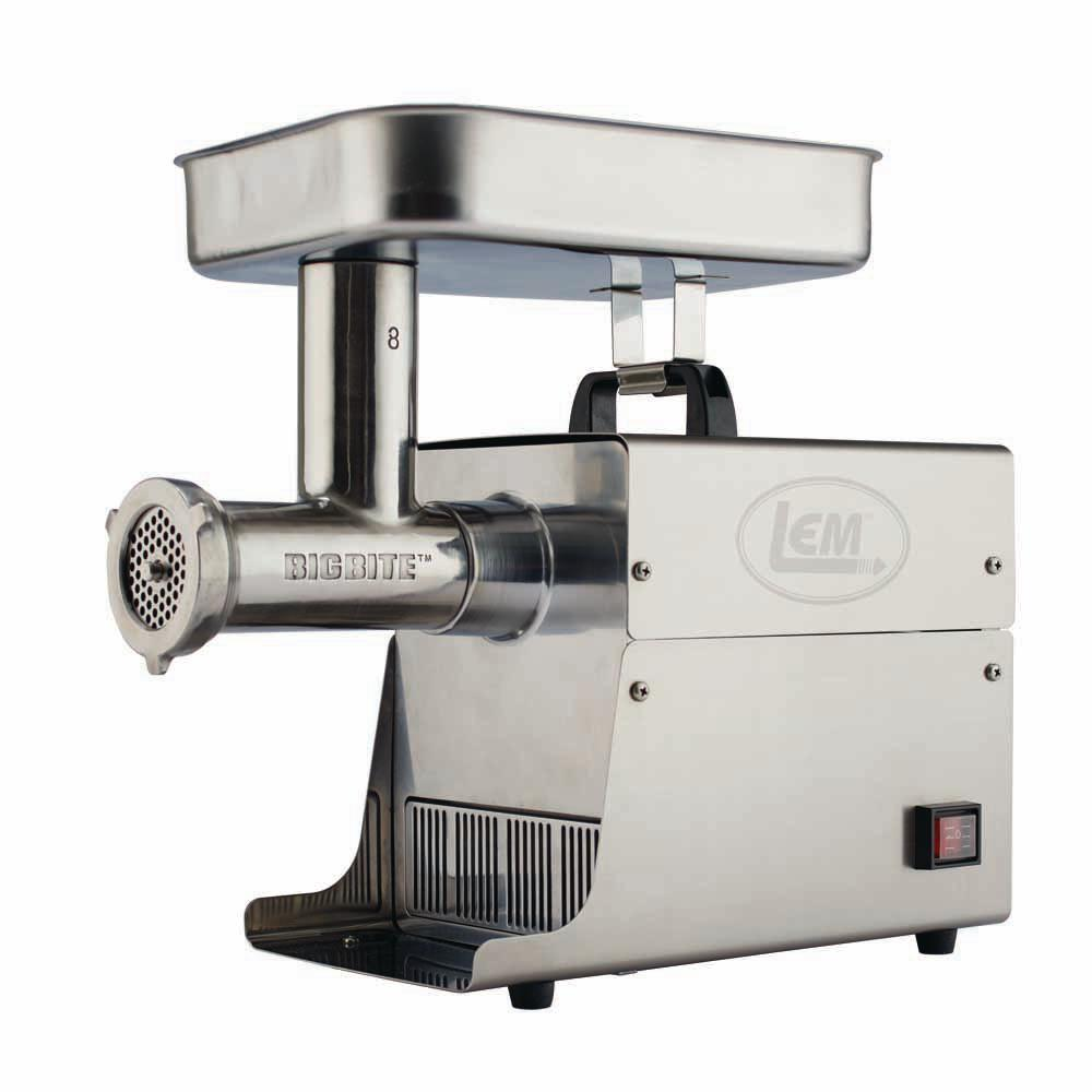 LEM Big Bite Grinder #8 0.5 HP Stainless Steel Electric Meat Grinder