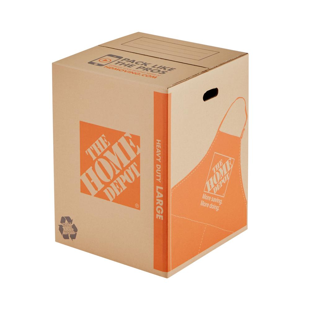 The Home Depot The Home Depot 18 in. L x 18 in. W x 24 in. D Heavy-Duty Large Moving Box with Handles