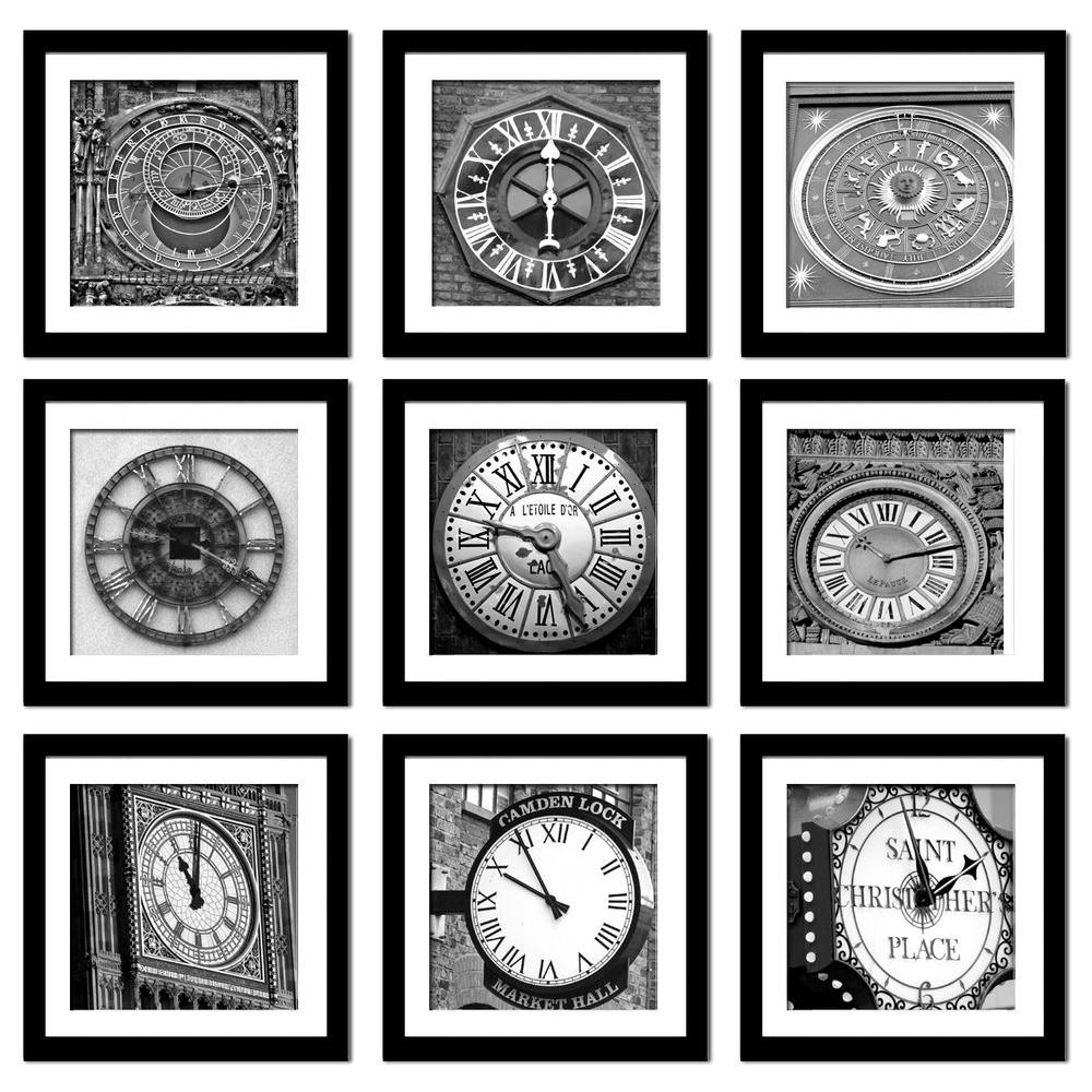 "Imagine Letters Nine 10 in. x 10 in. ""Time"" by Neeva Kedem Framed Printed Wall Art"