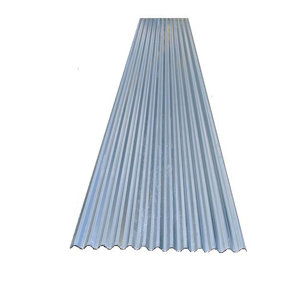 Super Stud Building Products 12 25 Ft 3 In X 30 In X 9 16 In 28 Gauge Galvanized Decking Metal Roof Panel 91612 The Home Depot