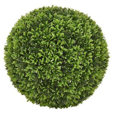 11 in. Green Artificial Boxwood Ball