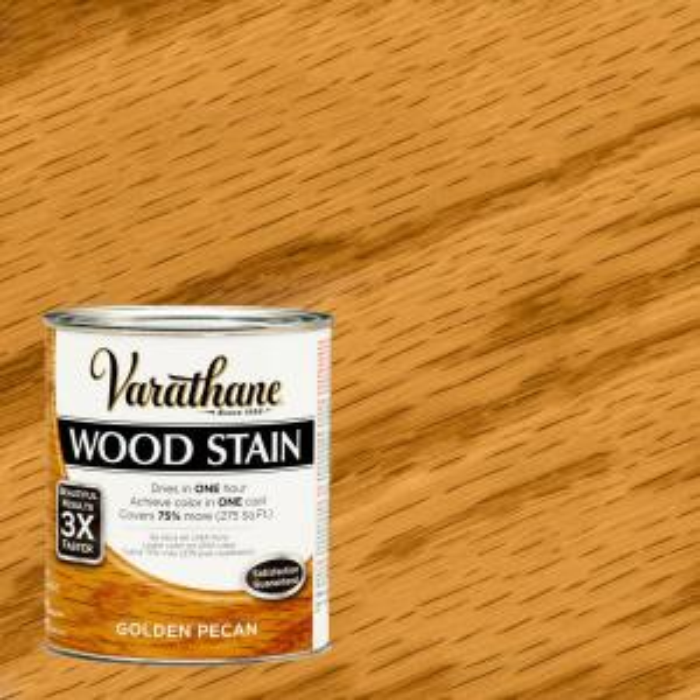 1 qt. 3X Golden Pecan Premium Wood Stain (Case of 2)