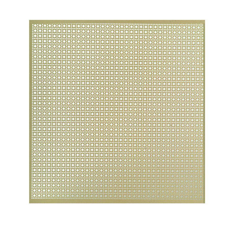 36 in. x 36 in. Lincane Aluminum Sheet in Brass