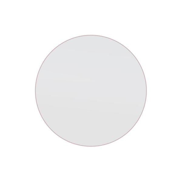 32 in. x 32 in. Round Stainless Steel Framed Wall Mirror In Pink