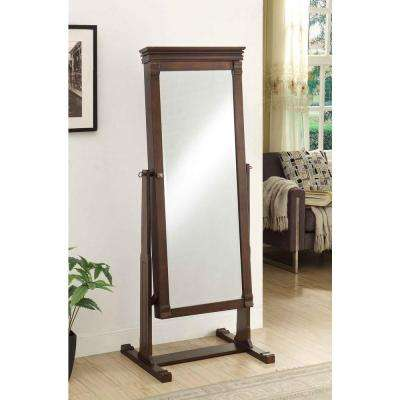Angela 63 in. x 23.75 in. Cheval Walnut Framed Mirror