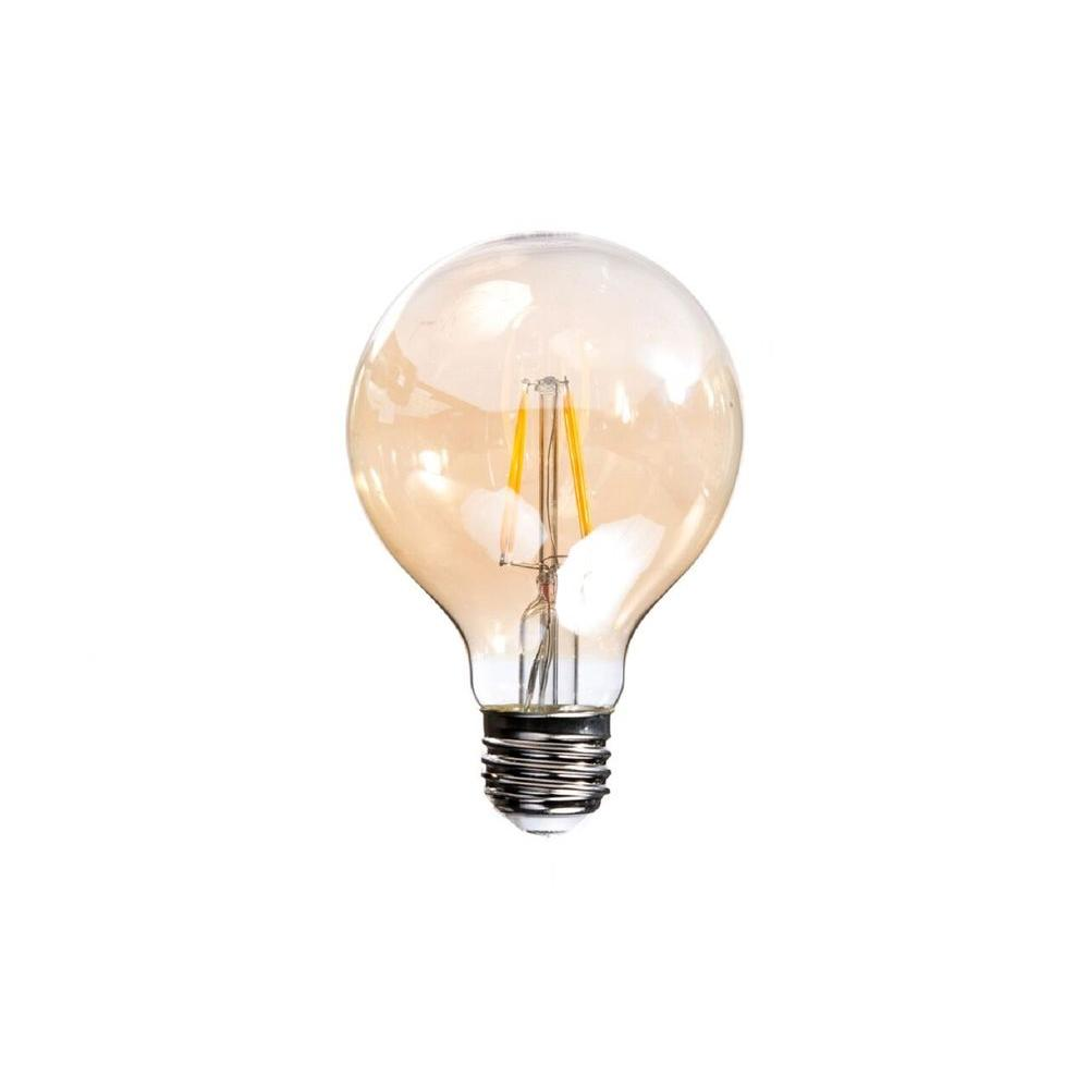 Bulbrite 40w Equivalent Amber Light G25 Dimmable Led: 40W Equivalent Soft White Vintage Filament G25 Dimmable