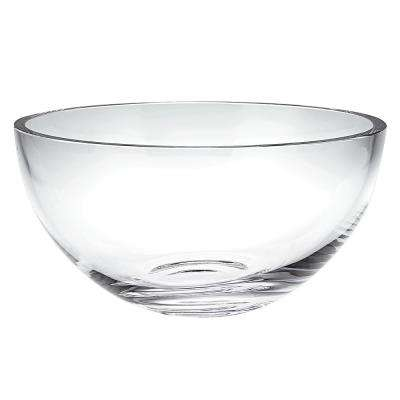 Large Penelope 10 in. Clear Mouth Blown European Lead Free Crystal Bowl