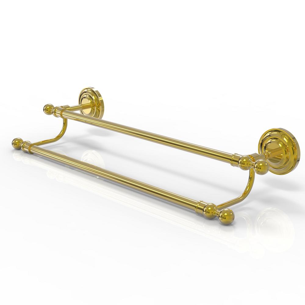 Que New Collection 24 in. Double Towel Bar in Polished Brass