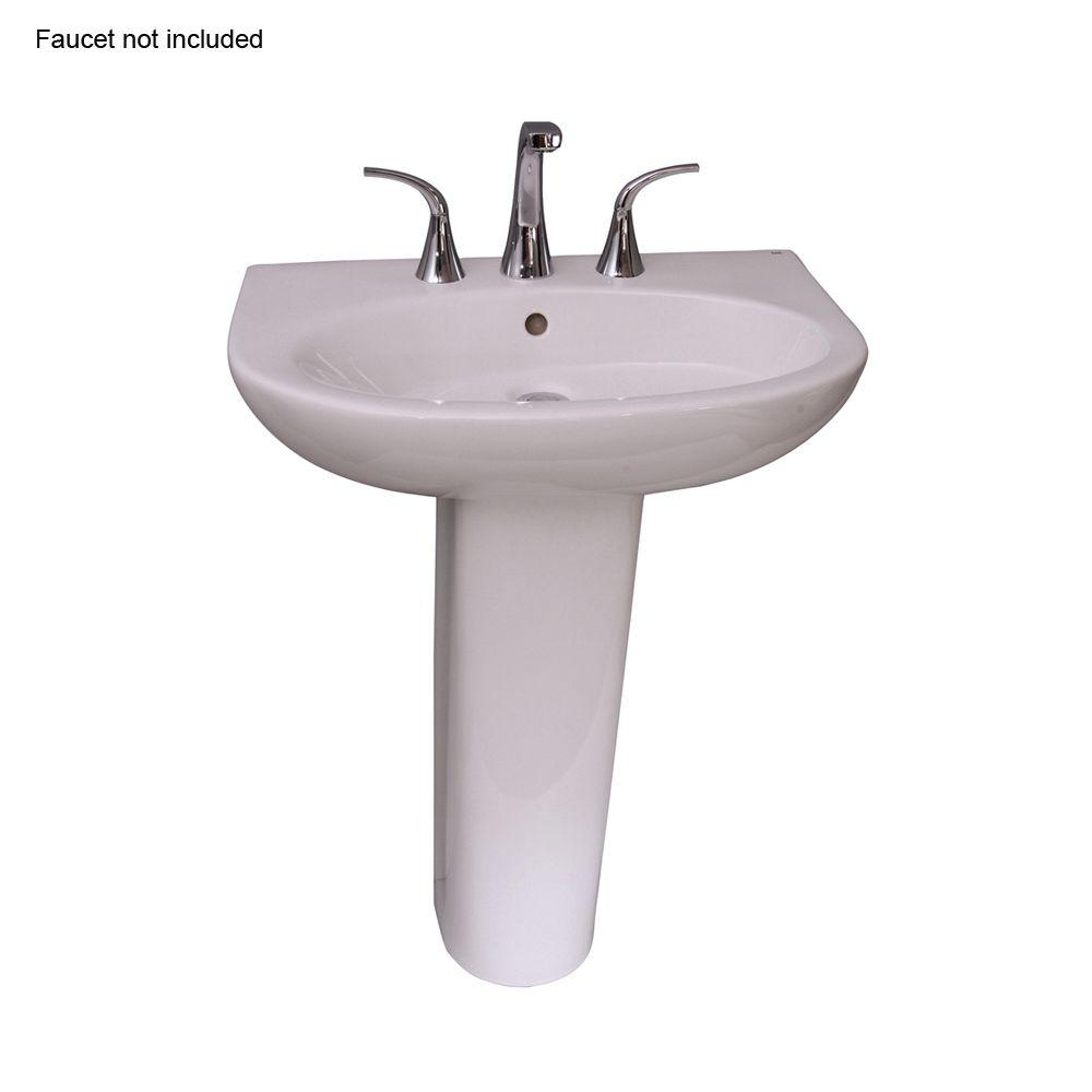 Infinity 600 24 in. Pedestal Combo Bathroom Sink for 8 in.