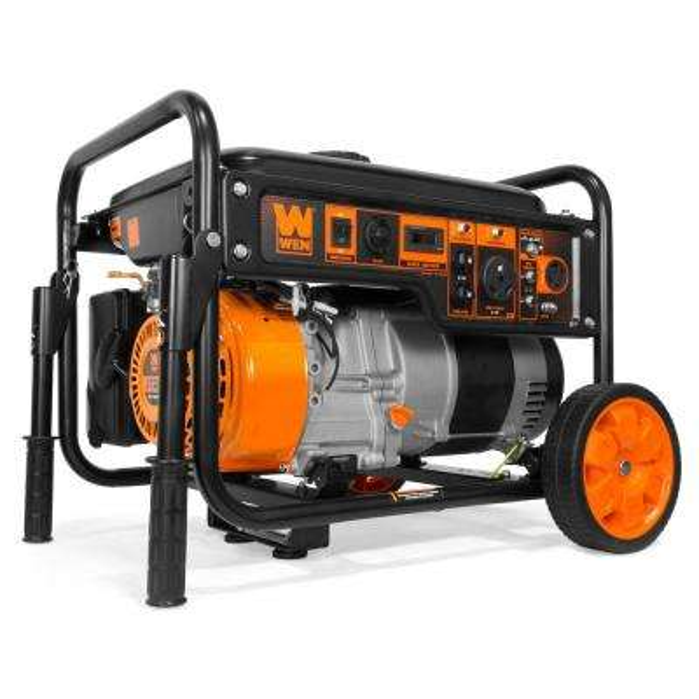 6000-Watt Portable RV-Ready Gas Powered Portable Generator with Wheel Kit, CARB Compliant
