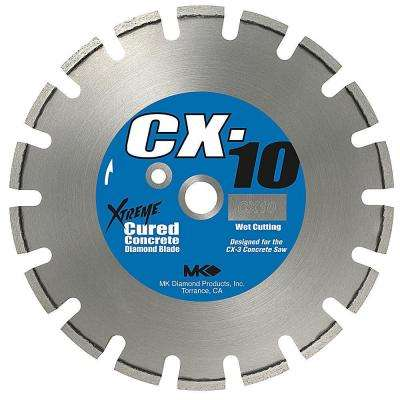 CX-10 14 in. Wet Cutting Diamond Saw Blade for Cured Concrete