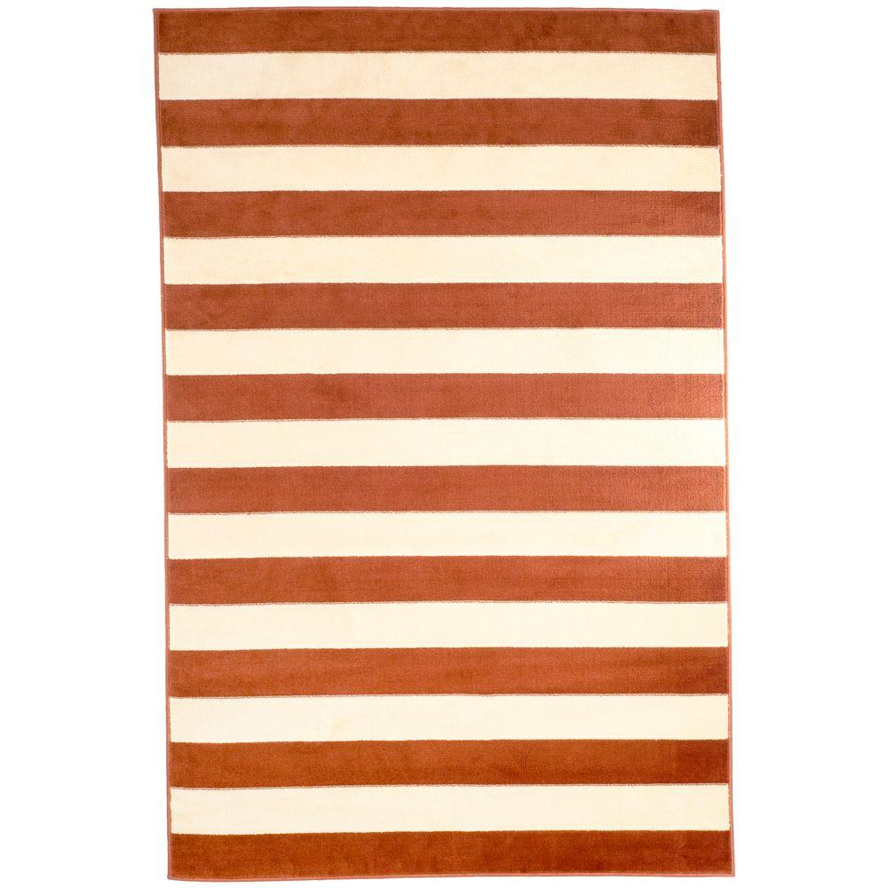 Stripe Amber 3 ft. 3 in. x 5 ft. Area Rug
