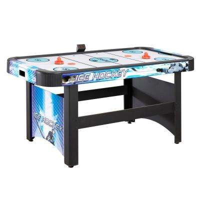 Face-Off 5 ft. Air Hockey Game Table for Family Game Rooms with Electronic Scoring, Free Pucks and Strikers