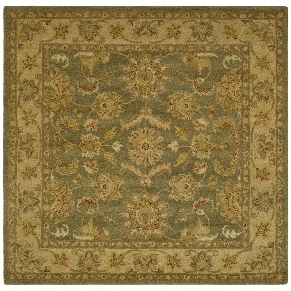 Safavieh Antiquity Green/Gold 8 ft. x 8 ft. Square Area Rug
