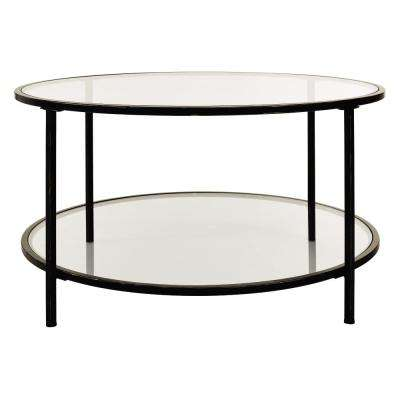 Bella Glass Antique Bronze Coffee Table
