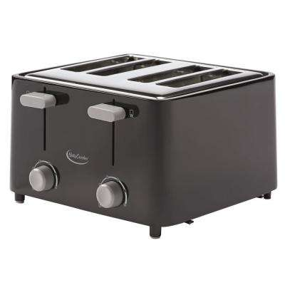 4-Slice Black Toaster