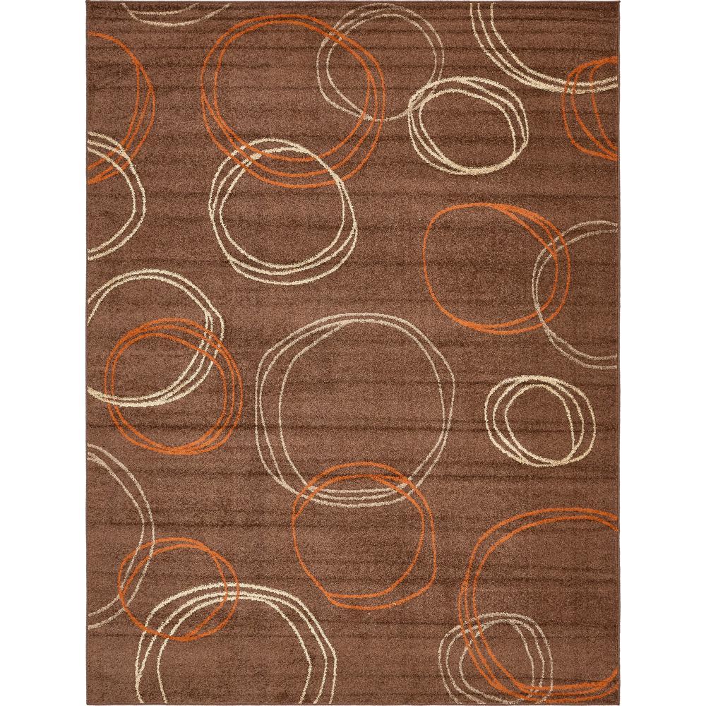 Unique Loom Autumn Cornucopia Brown 9 0 X 12 0 Area Rug 3138172 The Home Depot