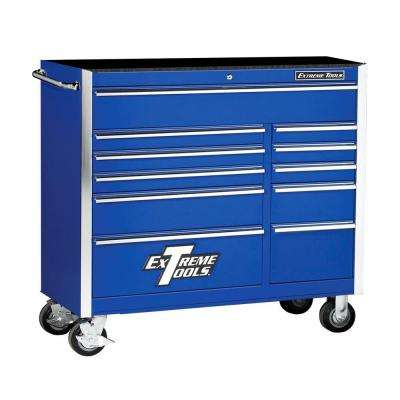 41 in. 11-Drawer Standard Roller Cabinet Tool Chest in Blue