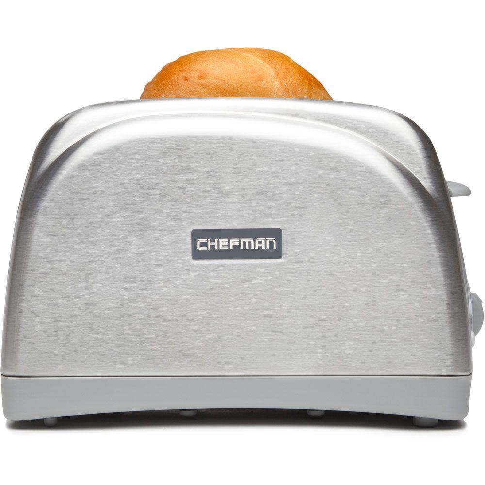Chefman 2-Slice Toaster with Extra-Wide Slots in Gray/Brushed Stainless Steel-DISCONTINUED