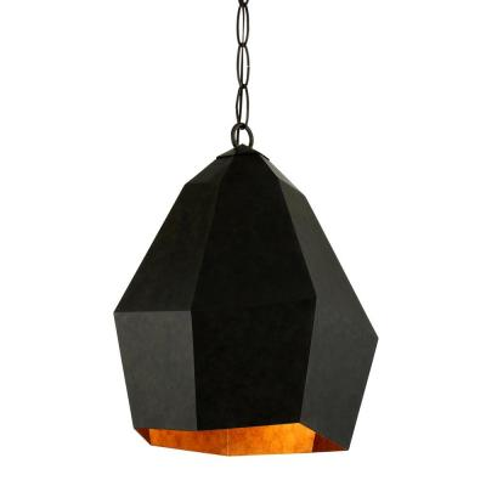 Indigo 1-Light Aged Bronze Pendant