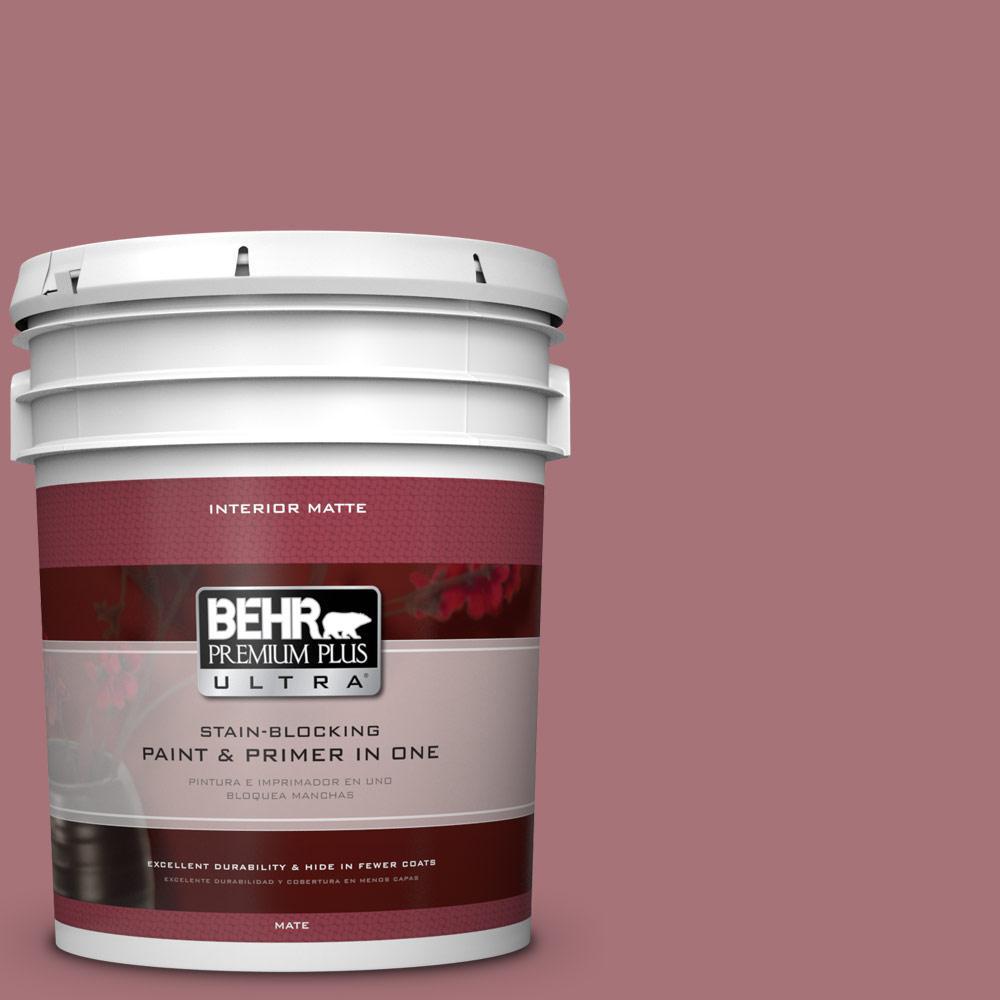 BEHR Premium Plus Ultra 5 gal. #S130-5 Heirloom Rose Matte Interior Paint